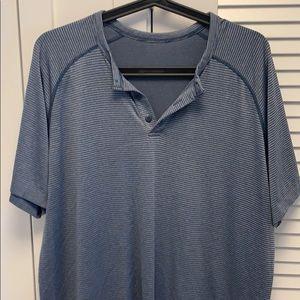 Lululemon Men's Metalvent Henley Button Up - XL